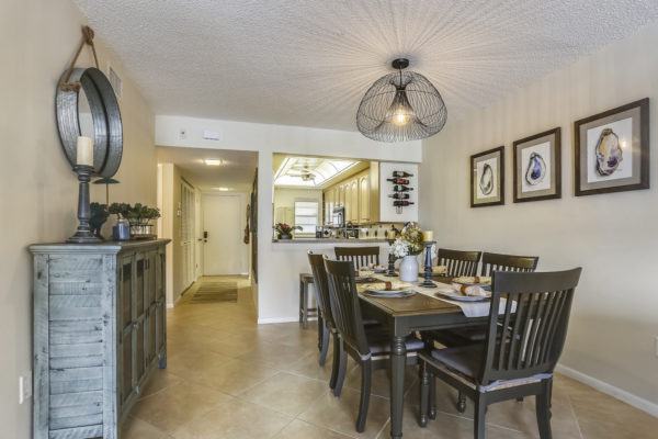 Dining area in an Anna Maria Island vacation rental