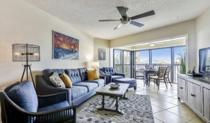 Living room of Liddie's Place, an Anna Maria Island vacation rental
