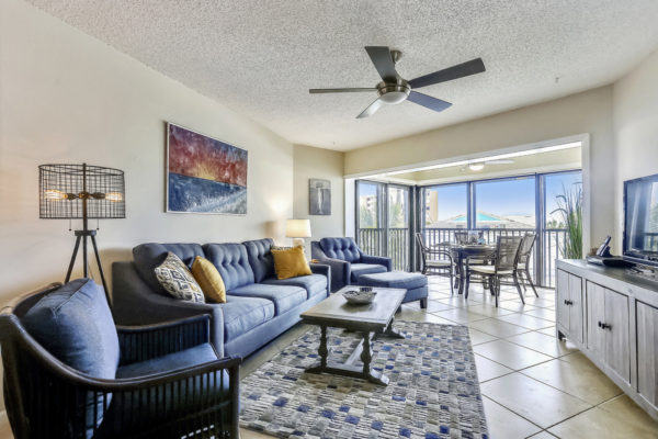 Living room of an Anna Maria Island vacation rental