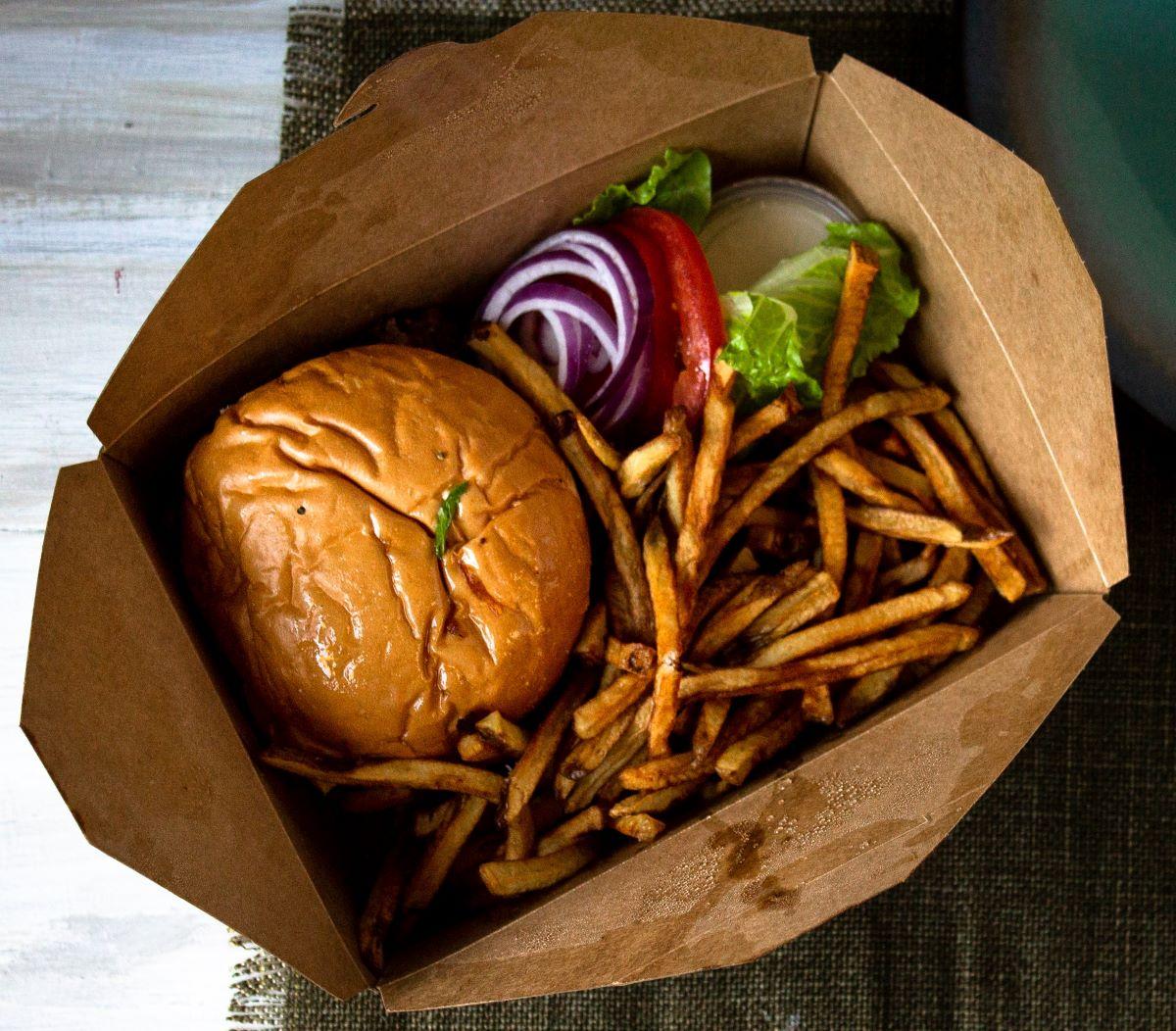 burger from anna maria island spot