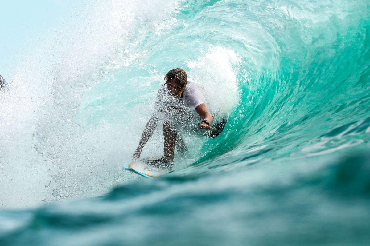 surfing on anna maria island ocean