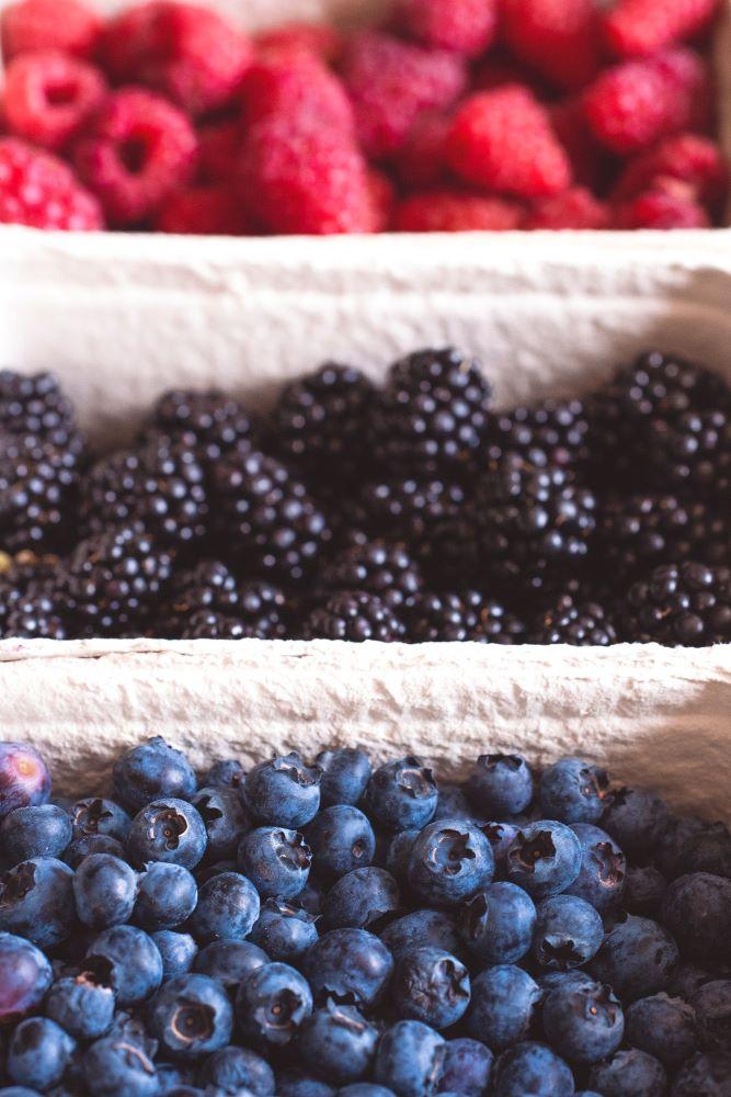 row of berries