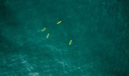 kayaks in anna maria island ocean