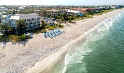 beach inn from above